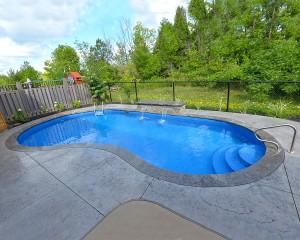 Inground pool in backyard 2