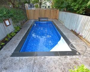 Square shaped inground pool