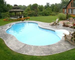 Inground pool with large gazebo