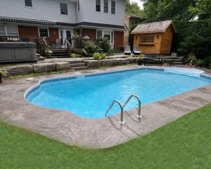 Inground pool in the backyard
