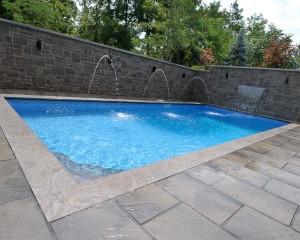 Vinyl lined pool in daytime