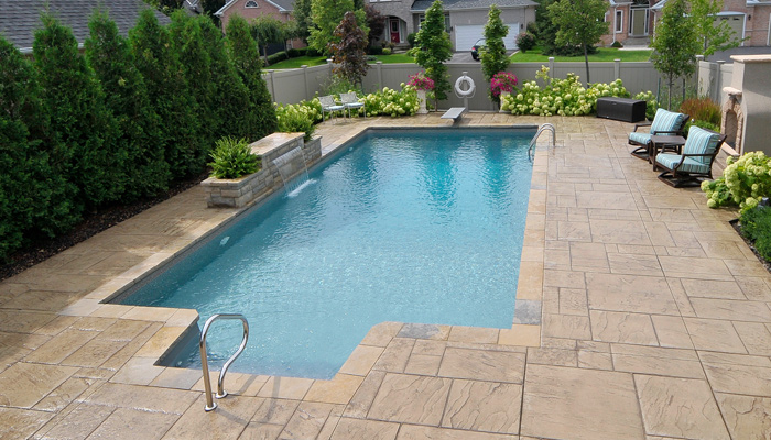 Square shape swimming pool