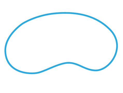 kidney-shaped