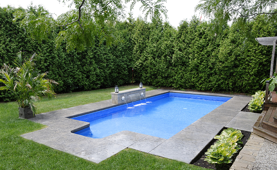 Rectangular shaped pool