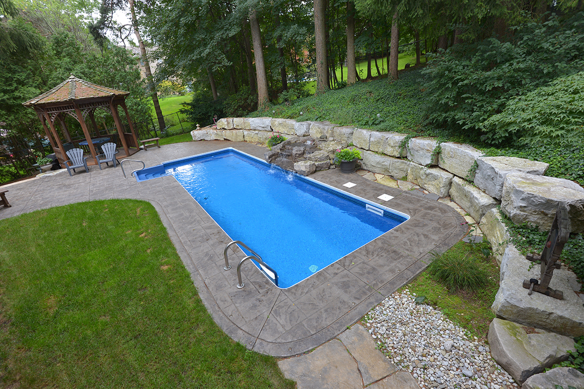 Rectangle shaped small pool