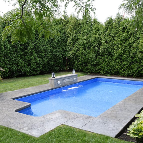 Rectangular shaped pool