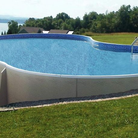 Above ground pool in the country